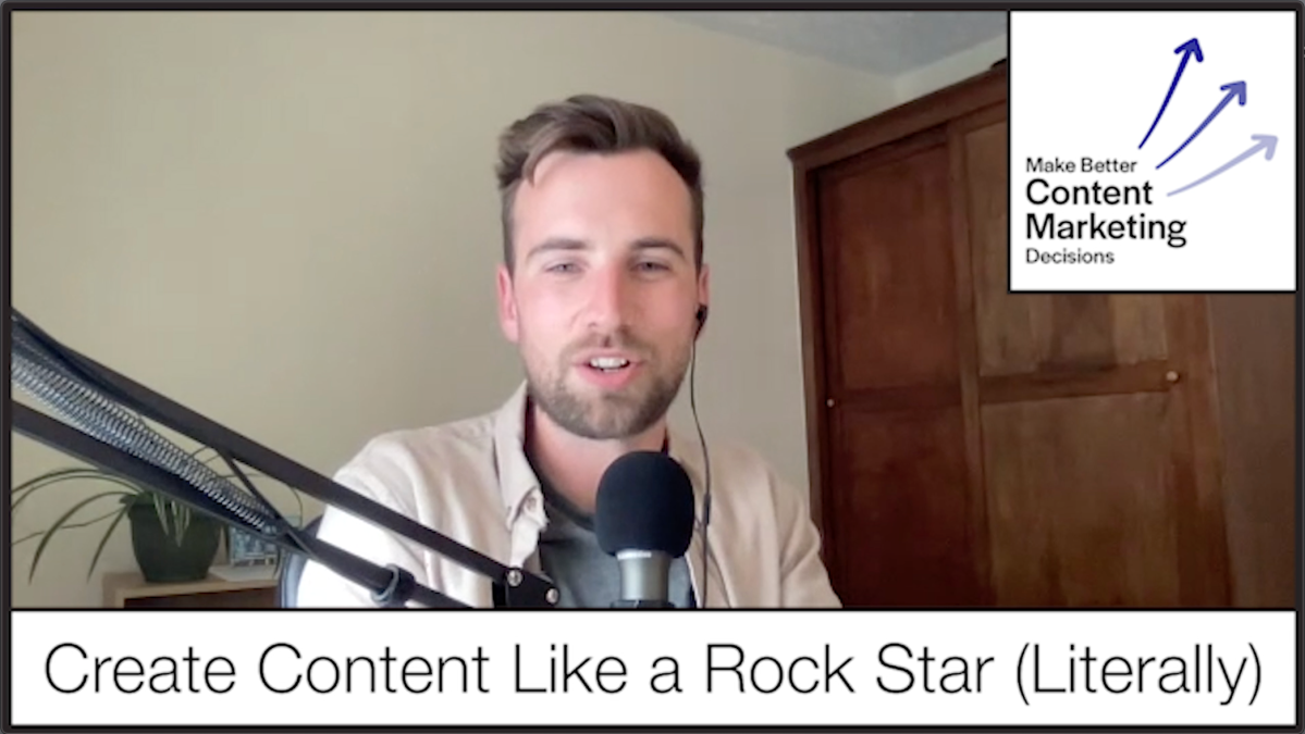Create Content Like a Rock Star(Literally)